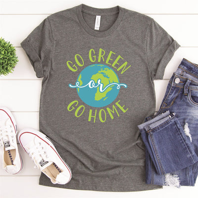 Go Green Or Go Home Tee - Limeberry Designs