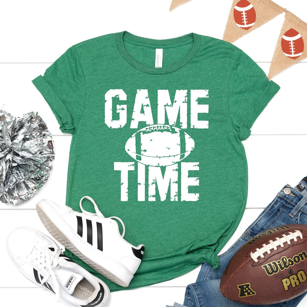 Game Time Football Tee - Limeberry Designs