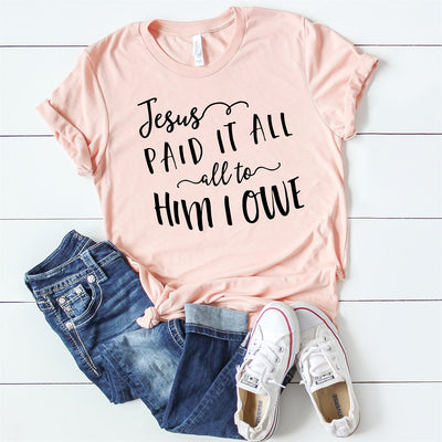 Jesus Paid It All Tee - Limeberry Designs