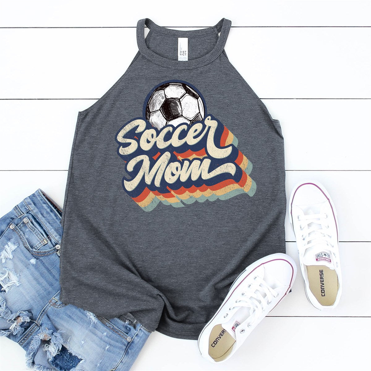 Retro Soccer Mom Tank - Limeberry Designs