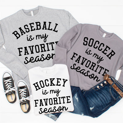 Favorite Season Sweatshirt - Track - Limeberry Designs