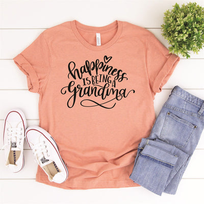 Happiness Is Being A Grandma Tee - Limeberry Designs