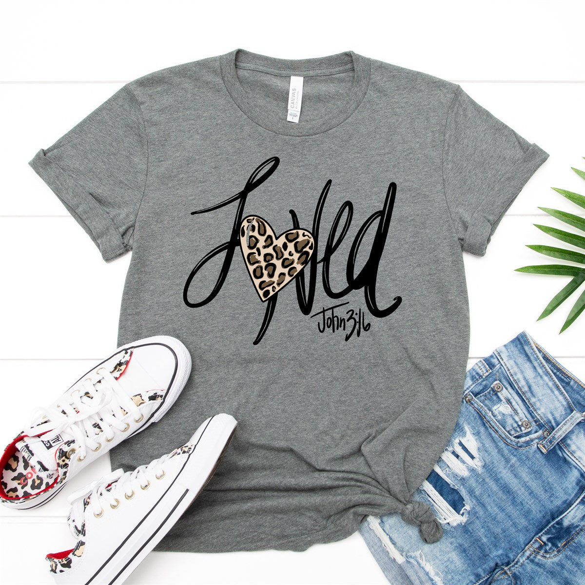 Loved Leopard Heart Tee