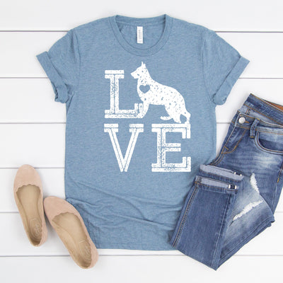 Love Dogs German Shepard Tee - Limeberry Designs