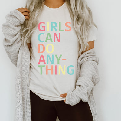 Girls Can Do Anything Tee - Limeberry Designs