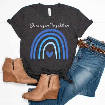 Stronger Together Rainbow Tee