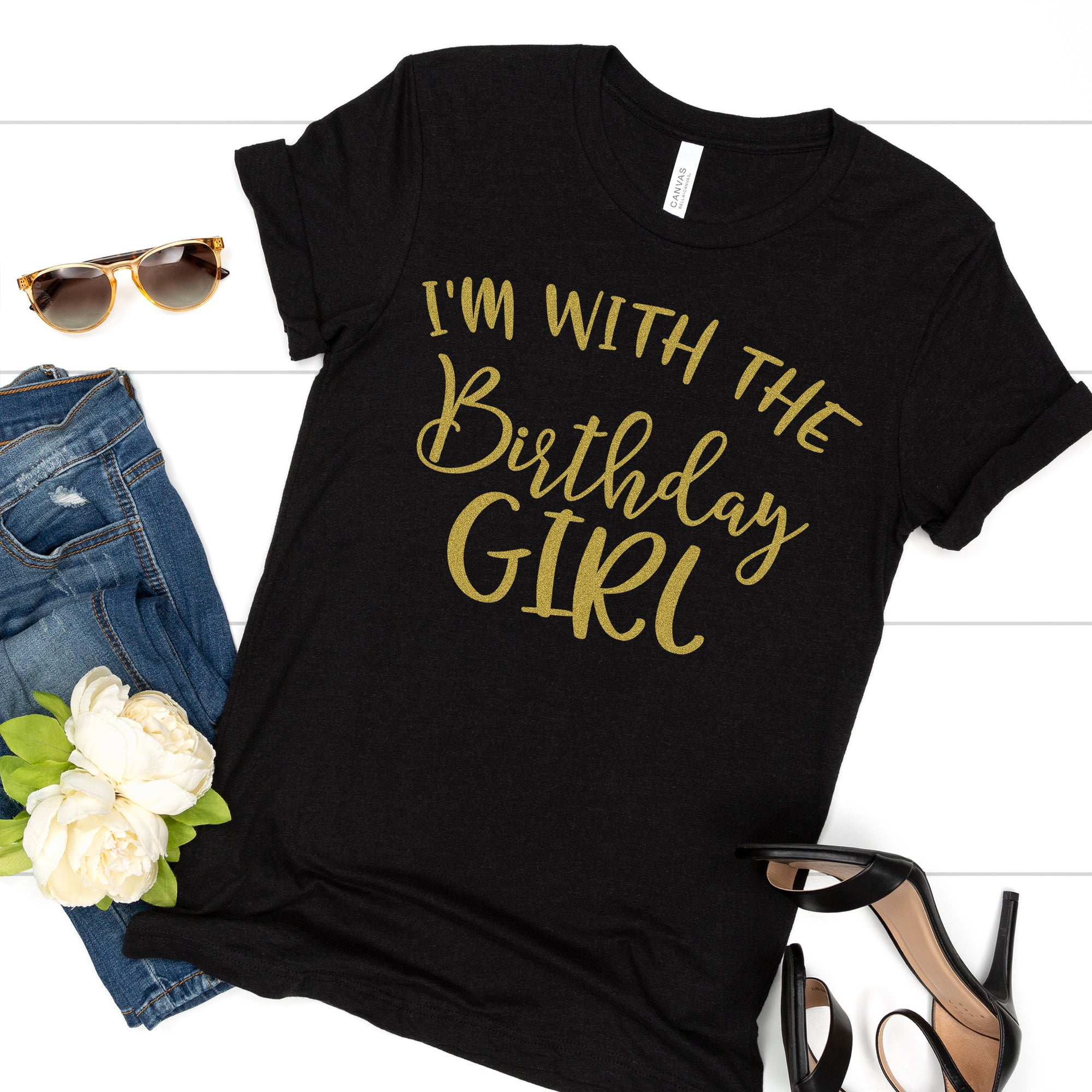 I'm With the Birthday Girl Tee - Limeberry Designs