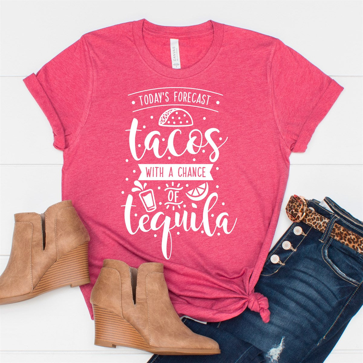 Tacos Chance Of Tequila Tee - Limeberry Designs