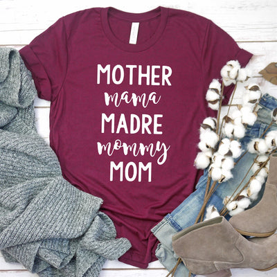 Mother, Mama, Madre Tee - Limeberry Designs