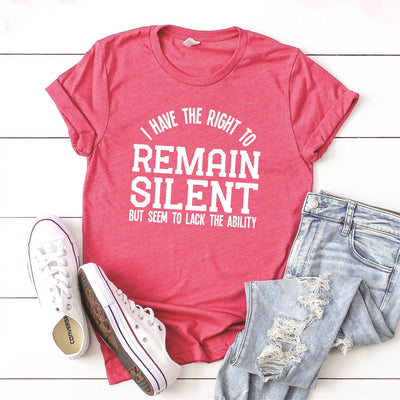 Remain Silent Tee - Limeberry Designs