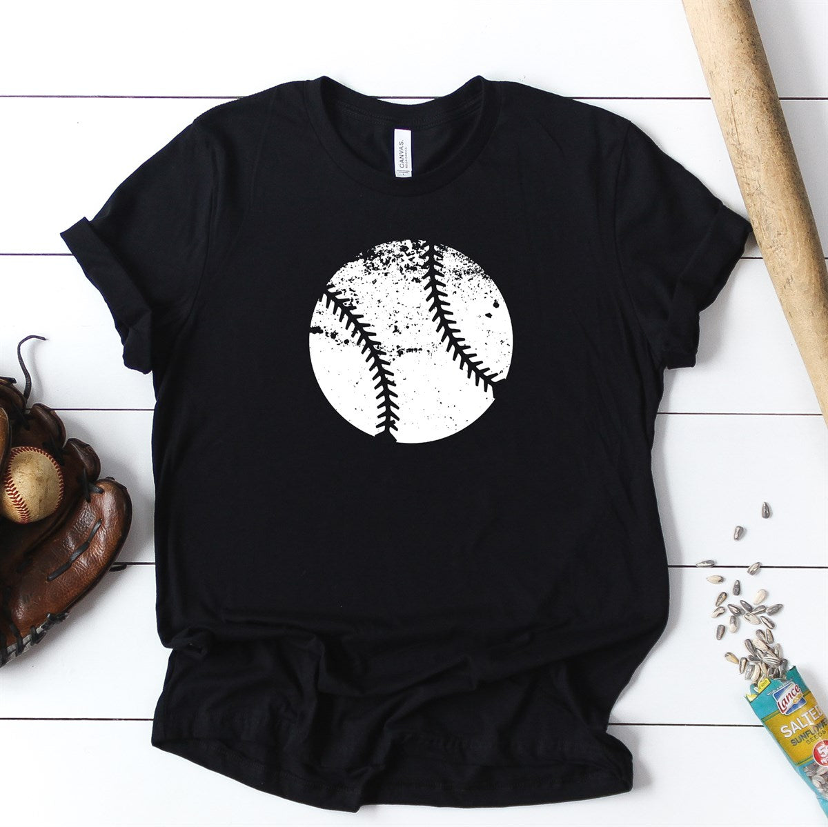 Distressed Baseball Tee - Limeberry Designs