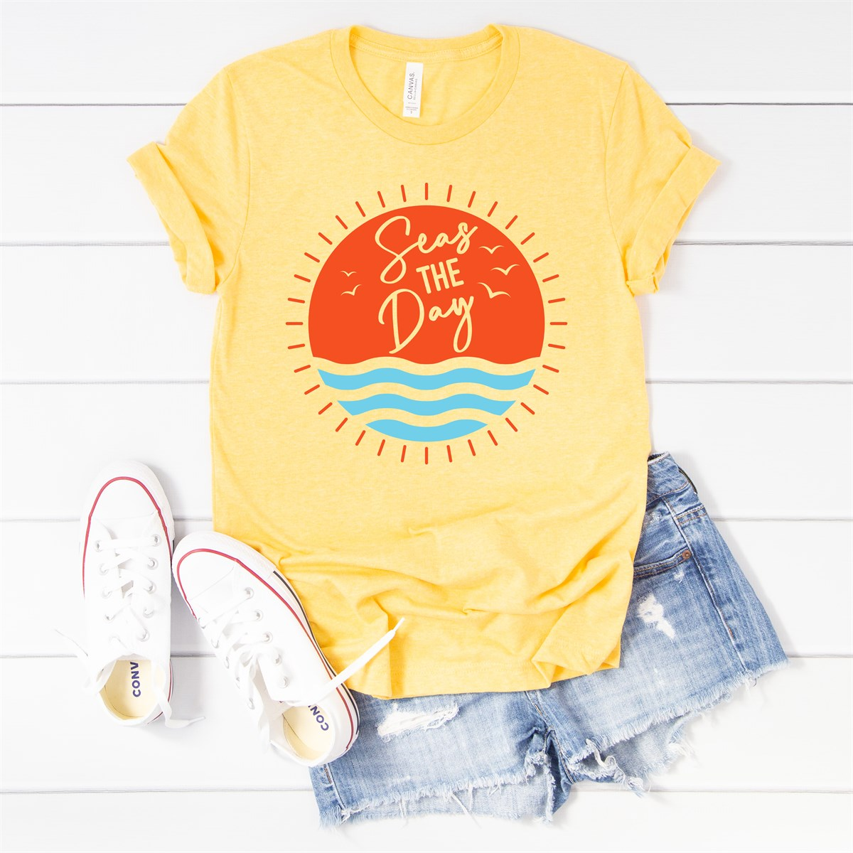 Seas The Day Tee - Limeberry Designs