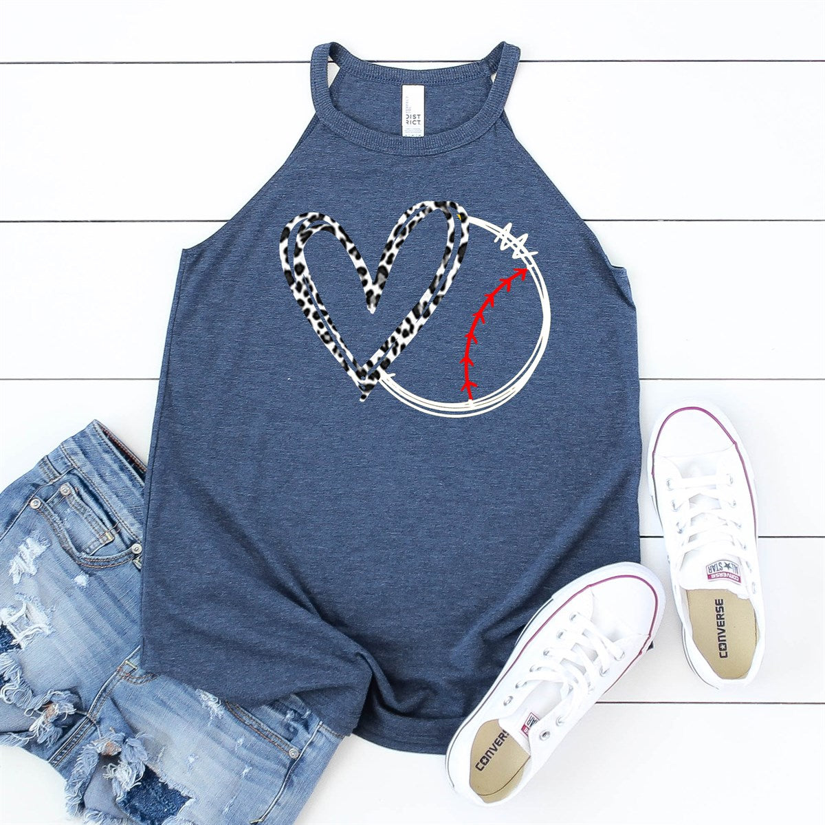 Heart Baseball Tank - Limeberry Designs