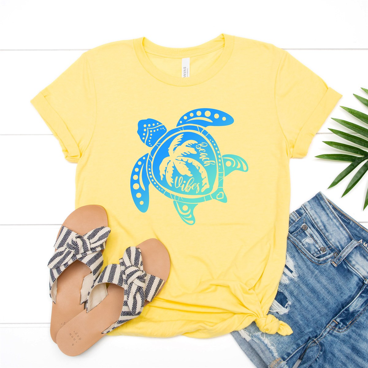 Beach Vibes Turtle Tee - Limeberry Designs