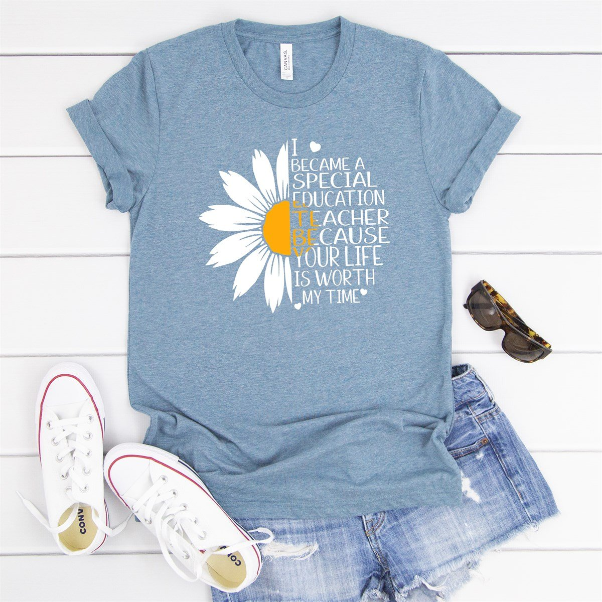 Special Education Teacher Flower Tee - Limeberry Designs