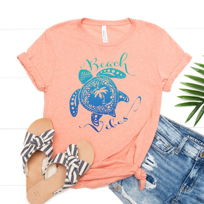 Sea Turtle Beach Vibes Tee - Limeberry Designs