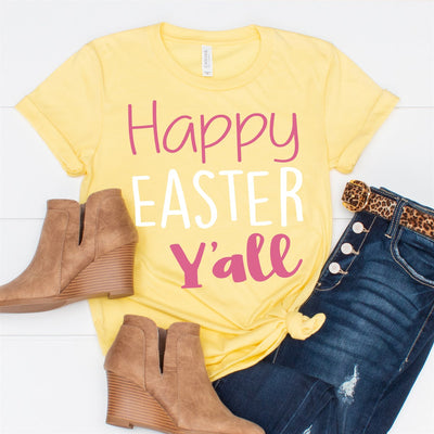 Happy Easter Y'all Tee - Limeberry Designs