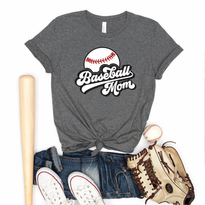 Retro Baseball Mom II Tee - Limeberry Designs
