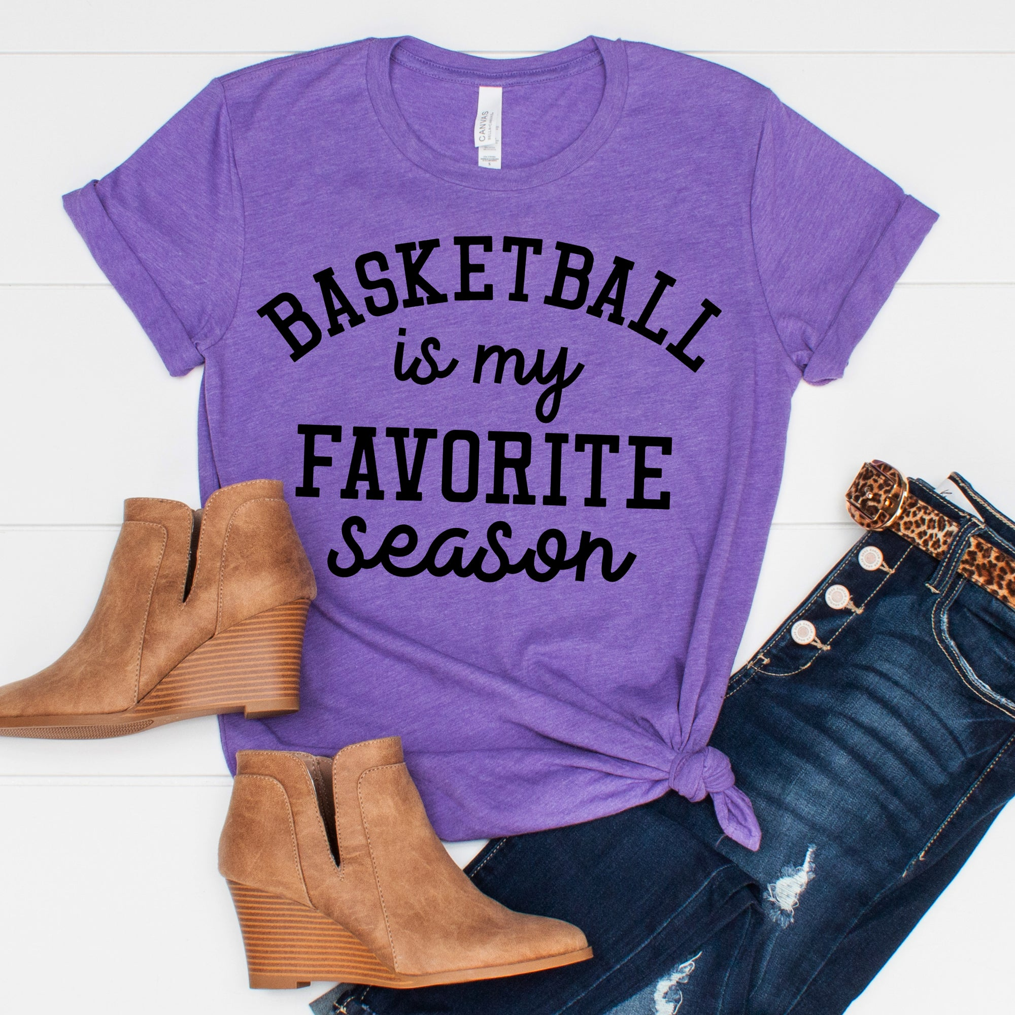 Basketball is my Favorite Season Tee - Limeberry Designs