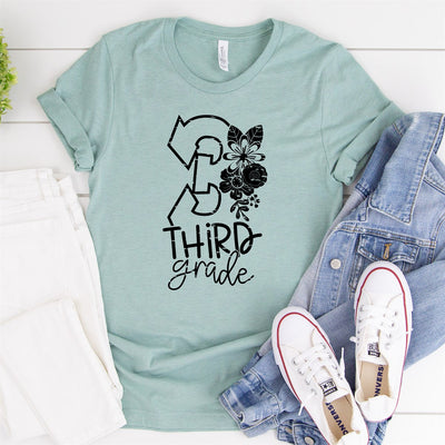 3rd Grade Teacher Tee - Limeberry Designs