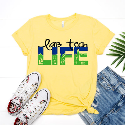 Lab Tech Life Tee - Limeberry Designs