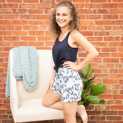 Colored Leopard Lounge Shorts - Limeberry Designs