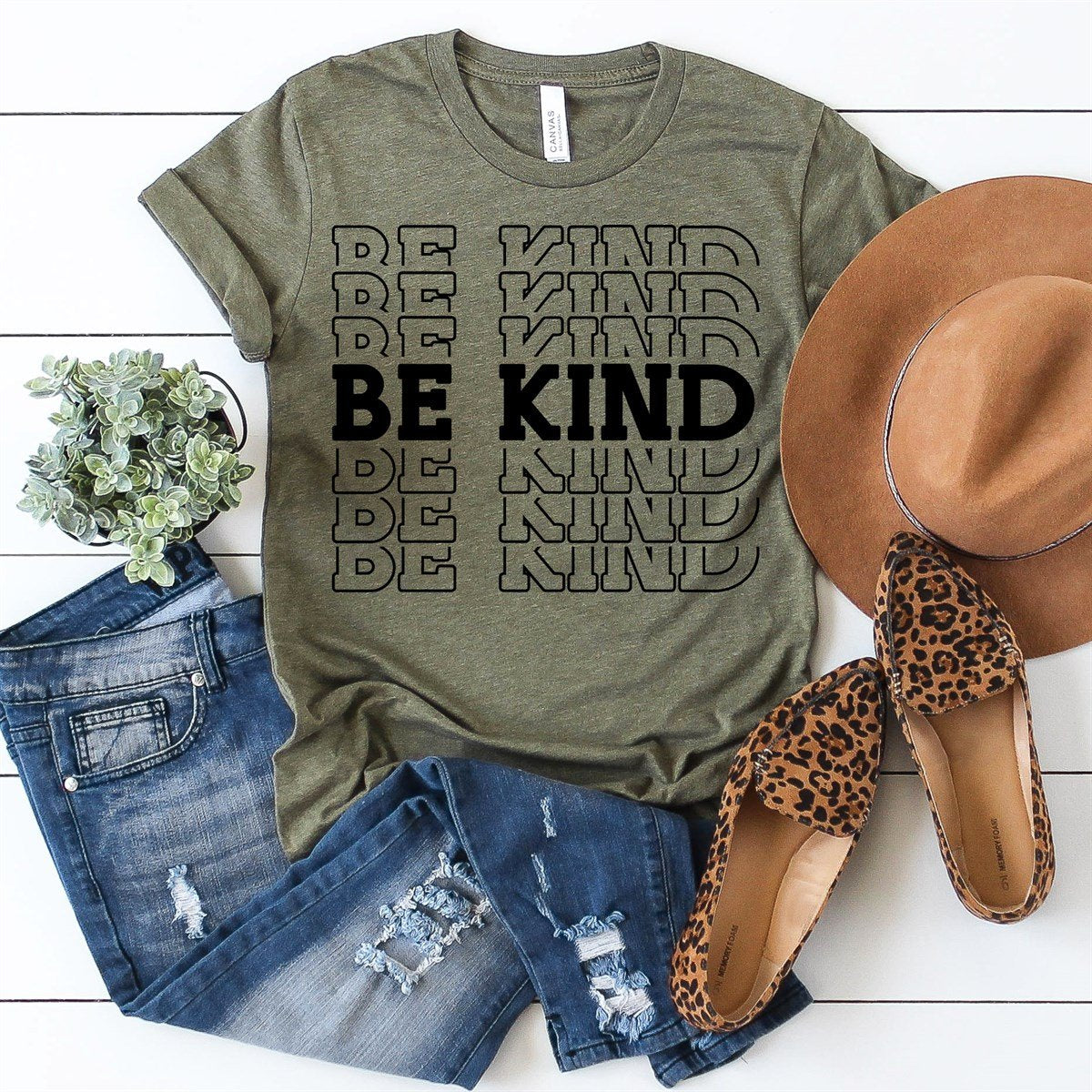 Be Kind Repeating Tee - Limeberry Designs