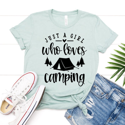 Girl Who Loves Camping Tee