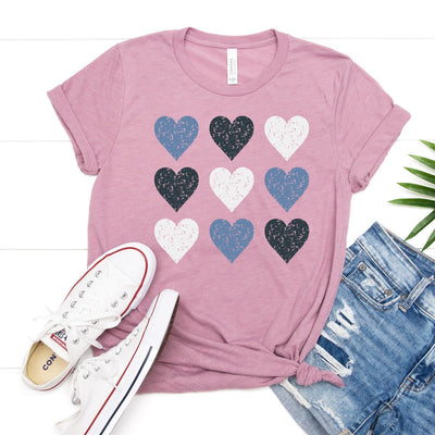 Distressed Hearts Tee