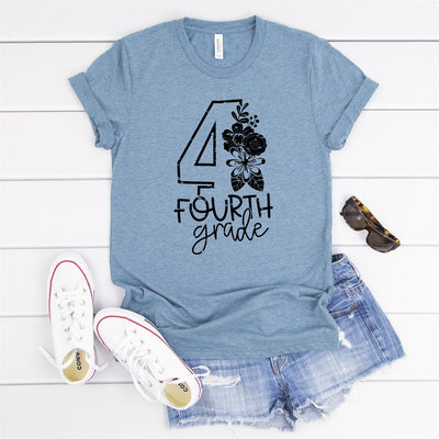 4th Grade Teacher Tee - Limeberry Designs