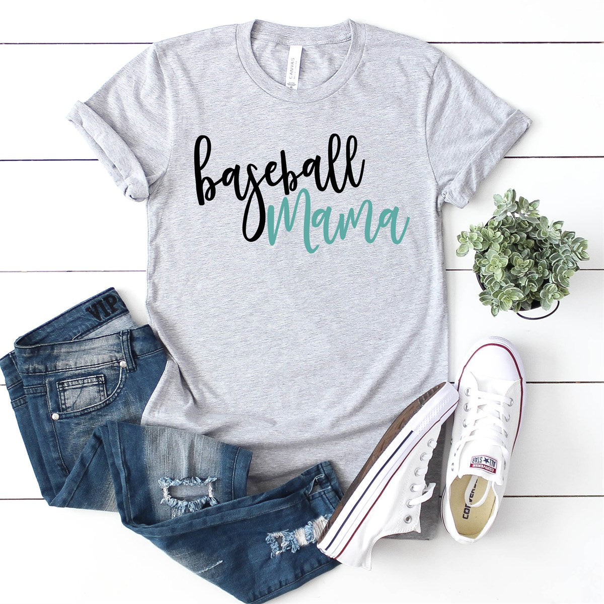 Baseball Mama Tee - Limeberry Designs