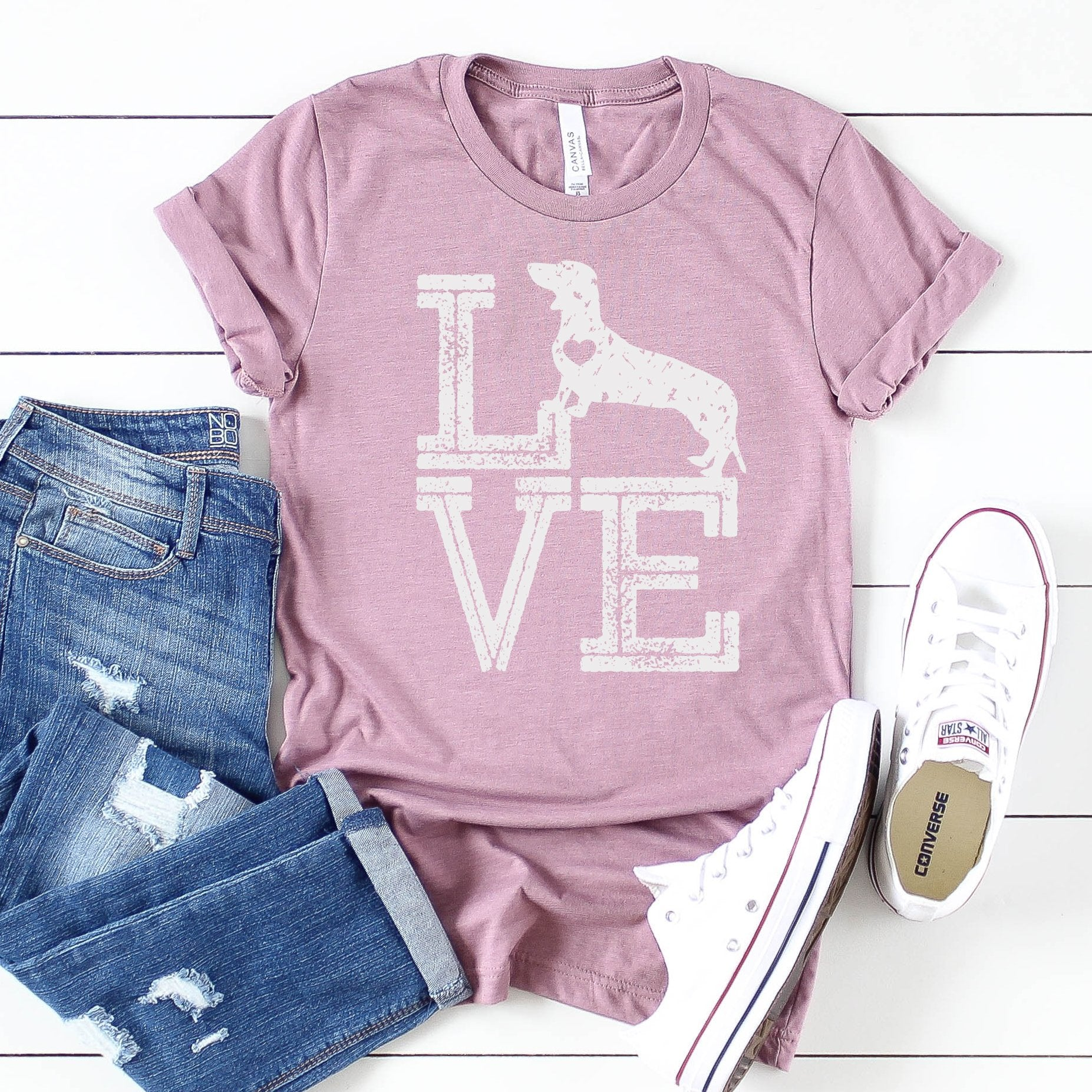 Love Dogs Dachshund Tee - Limeberry Designs