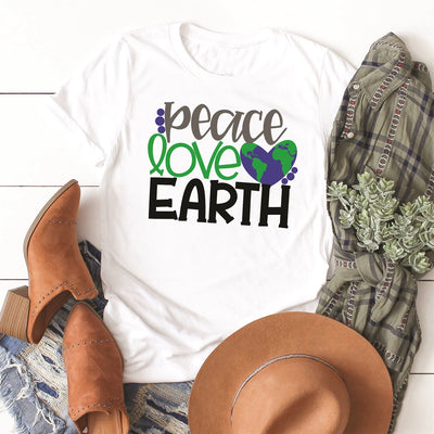 Peace Love Earth Tee - Limeberry Designs