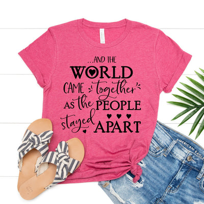 World Together People Apart Tee - Limeberry Designs