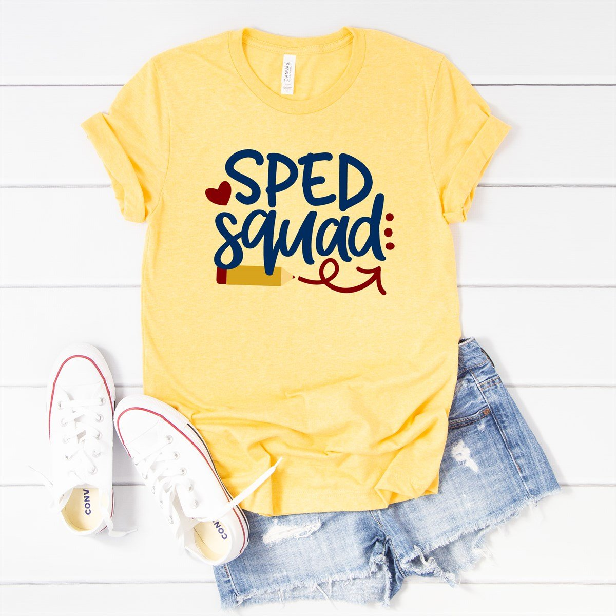 Sped Squad Pencil Tee - Limeberry Designs