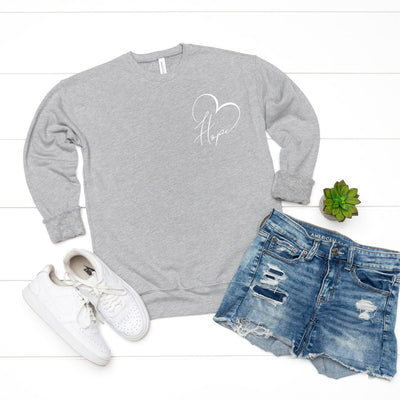 Hope Heart Pocket Sweatshirt