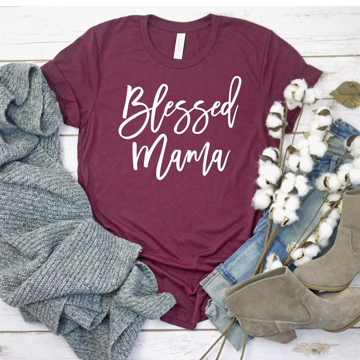 Blessed Mama Tee - Limeberry Designs