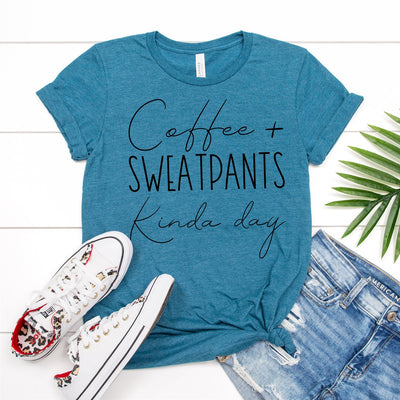 Coffee & Sweatpants Tee - Limeberry Designs