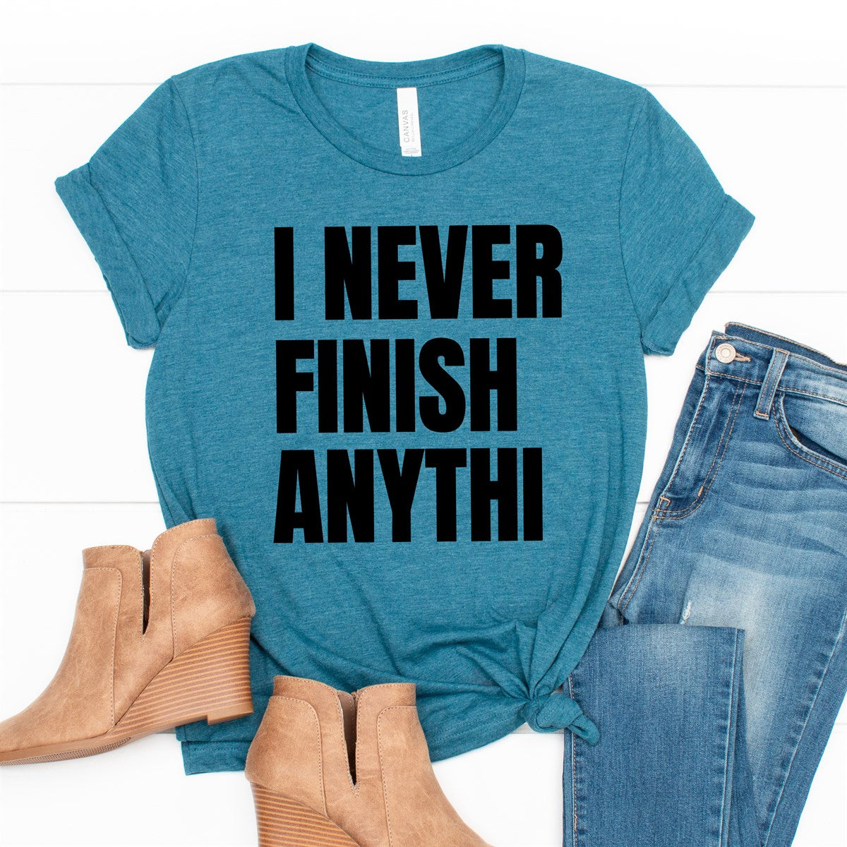 Never Finish Anything Tee - Limeberry Designs
