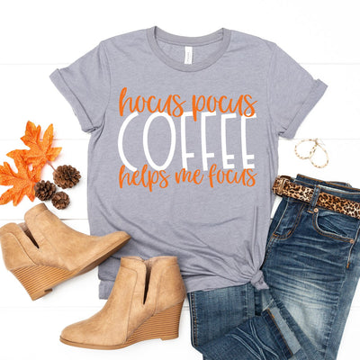 Coffee Helps Me Focus Tee - Limeberry Designs