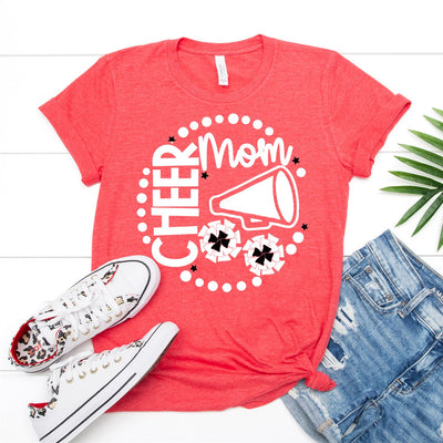 Cheer Mom Megaphone Tee - Limeberry Designs