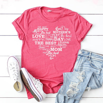 Happy Mother's Day Heart Tee - Limeberry Designs