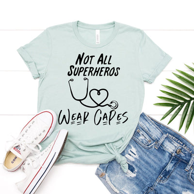 Not All Superheros Wear Capes Tee - Limeberry Designs