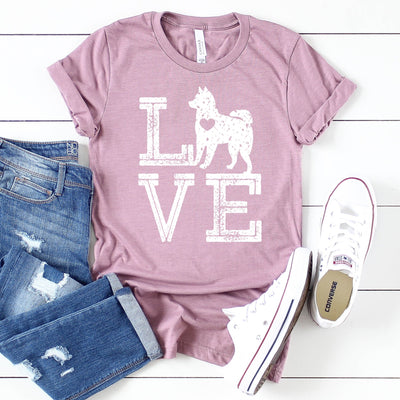 Love Dogs Husky Tee - Limeberry Designs