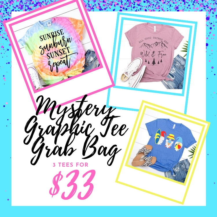July Mystery Graphic Tee Grab Bag