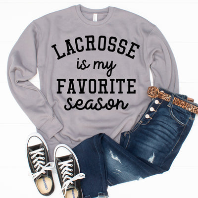 Favorite Season Sweatshirt - Lacrosse - Limeberry Designs