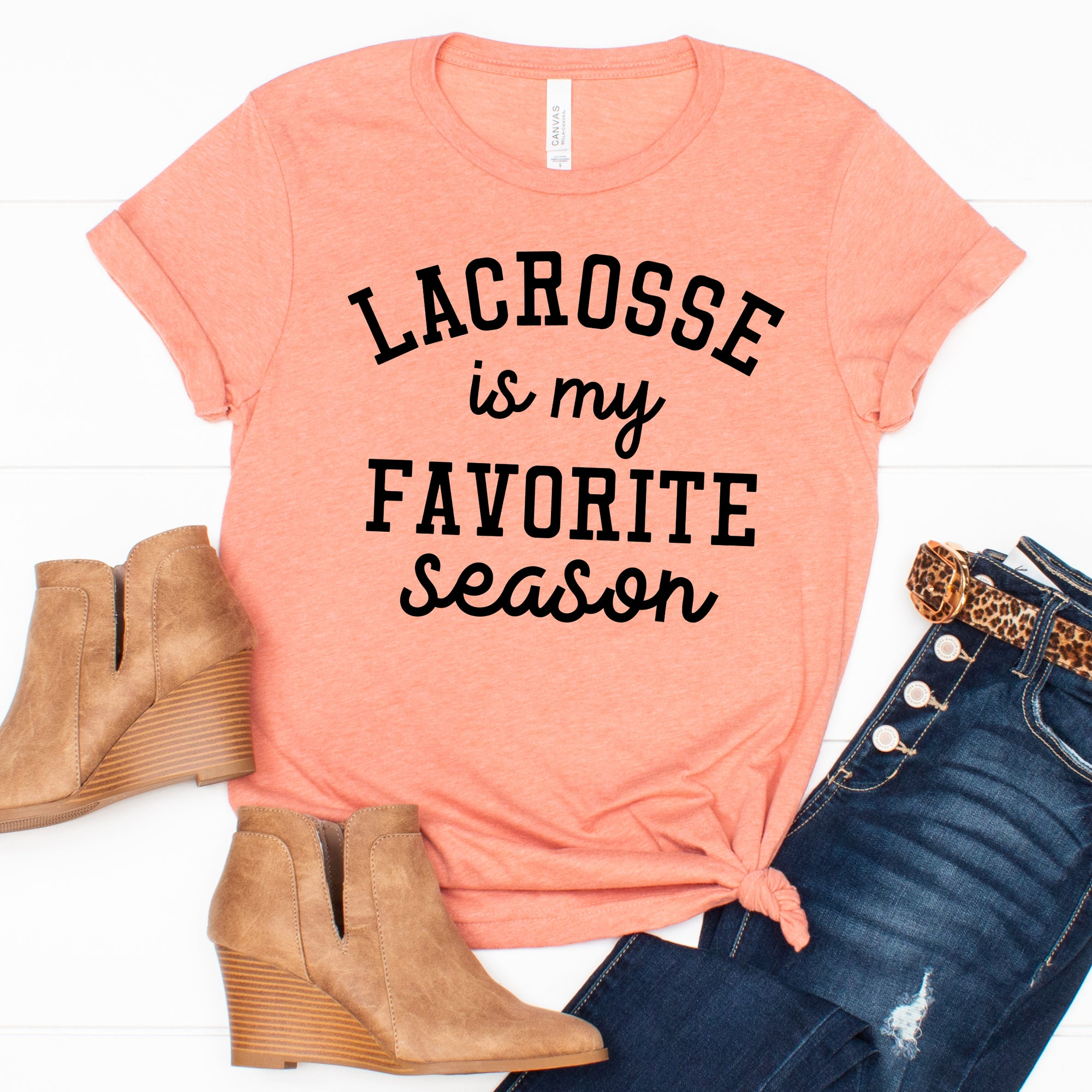 Lacrosse is my Favorite Season Tee - Limeberry Designs
