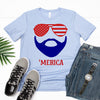 'Merica Beard Tee - Limeberry Designs