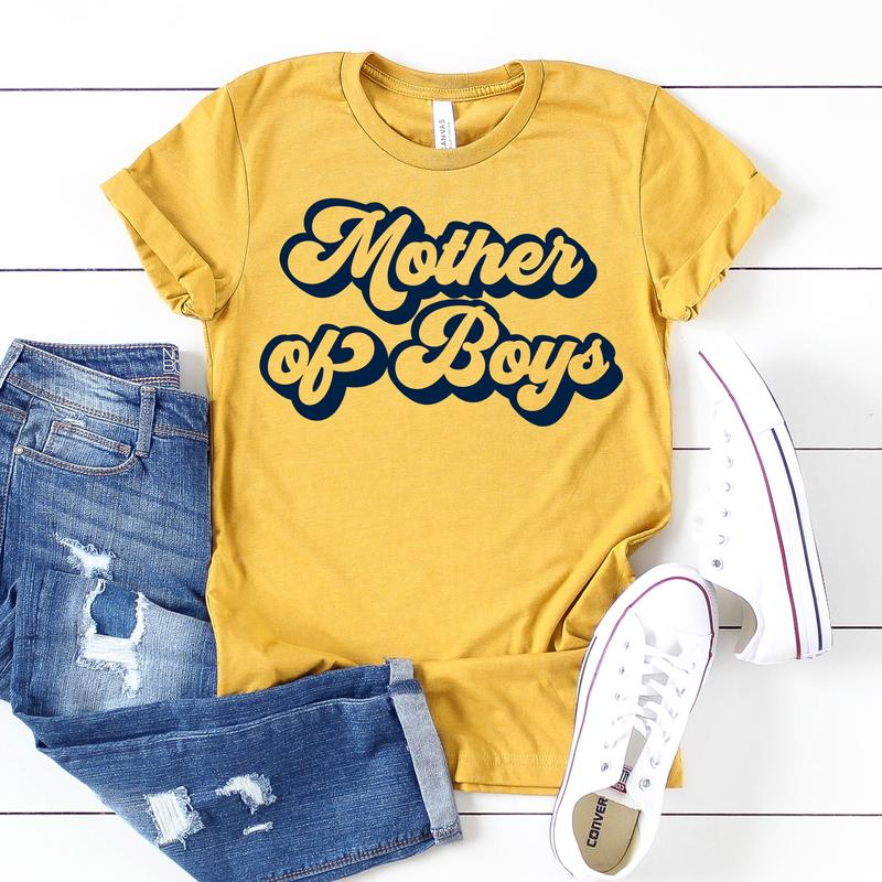 Mother Of Boys Tee - Limeberry Designs