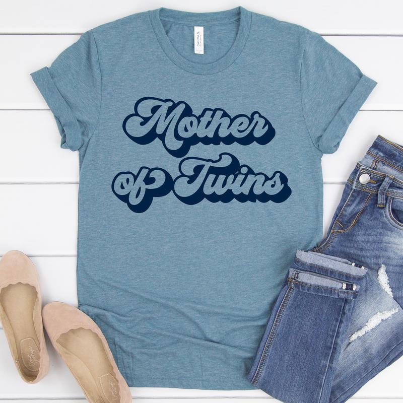 Mother Of Twins Tee - Limeberry Designs
